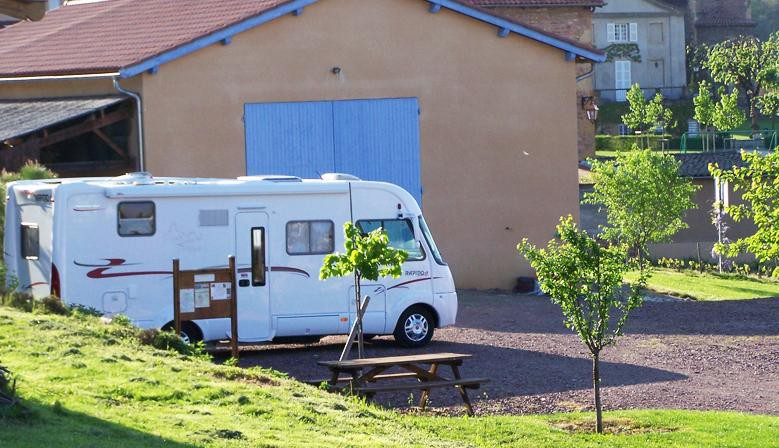 Camping car du Domaine du Breuil